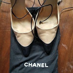 Authentic Chanel birdcage heel